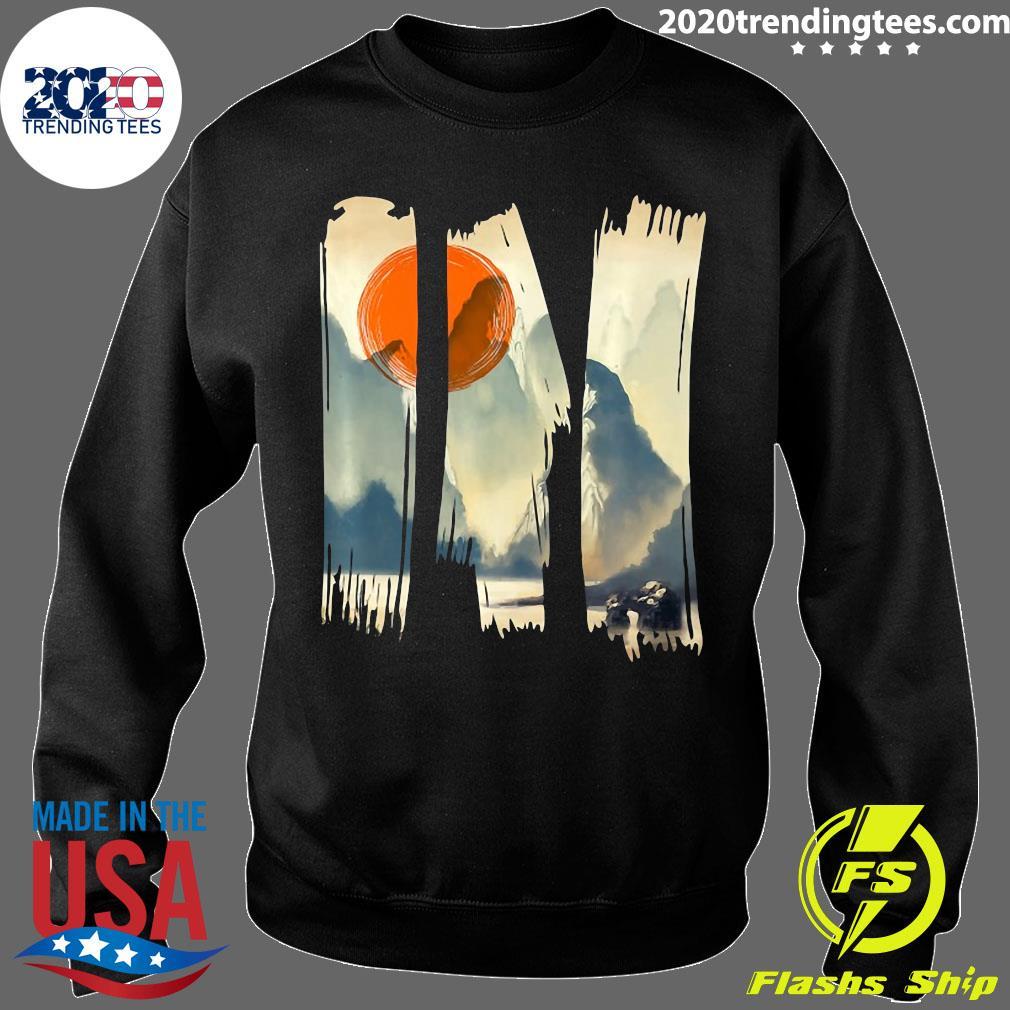 Asian Landscape Beautiful Print Graphic Urban Style Shirt Sweater
