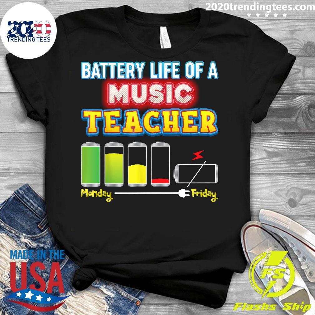 Battery Life Of A Music Teacher Shirt Ladies tee