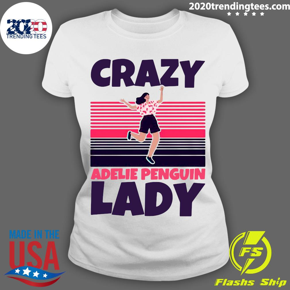 Crazy Adelie Penguin Lady Vintage Shirt Ladies tee