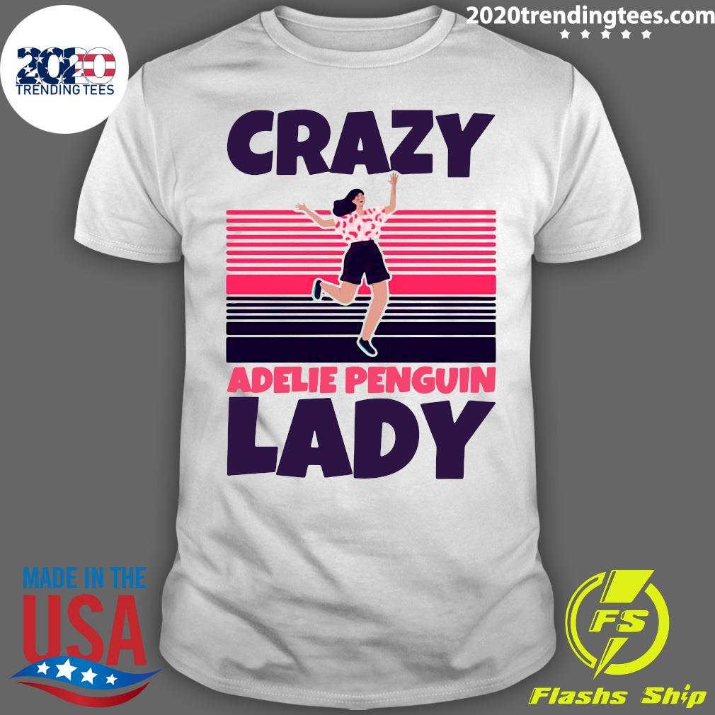 Crazy Adelie Penguin Lady Vintage Shirt