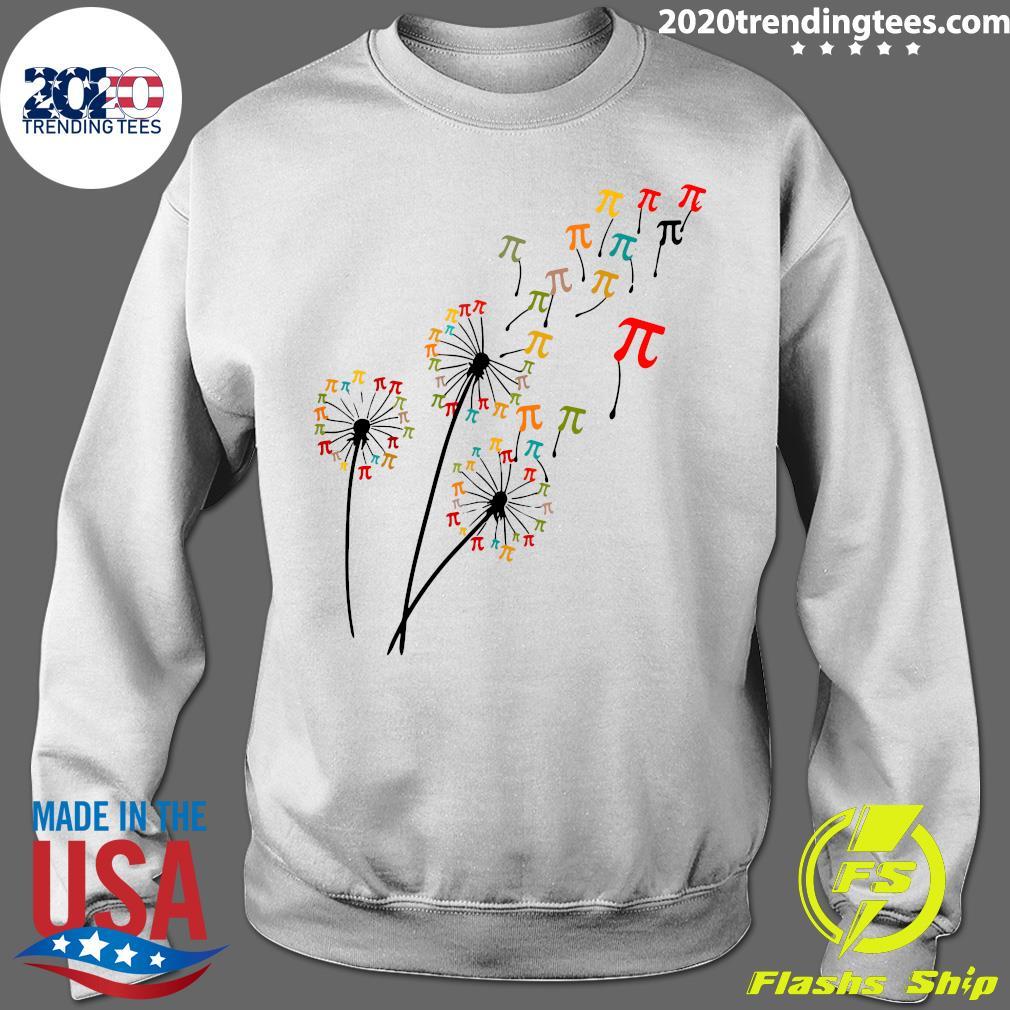 Dandelion Pi Day Flower Floral Pi Day Tree Shirt Sweater