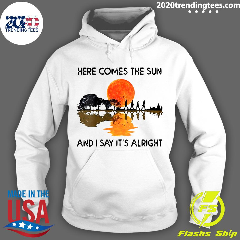 Here Comes The Sun And I Say It's Alright Guitar Graphic Shirt (2) Hoodie