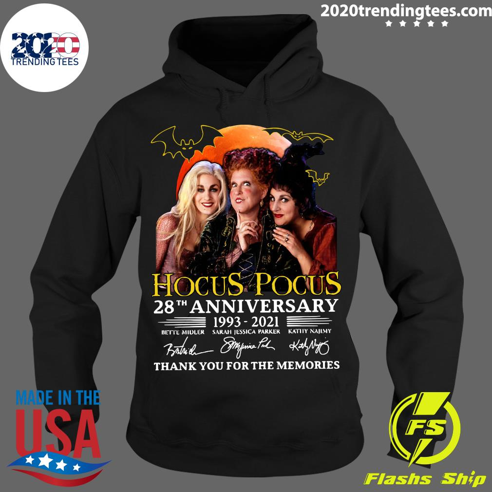 Hocus Pocus 28th Anniversary 1993 2021 Signatures Thank You For The Memories Shirt Hoodie