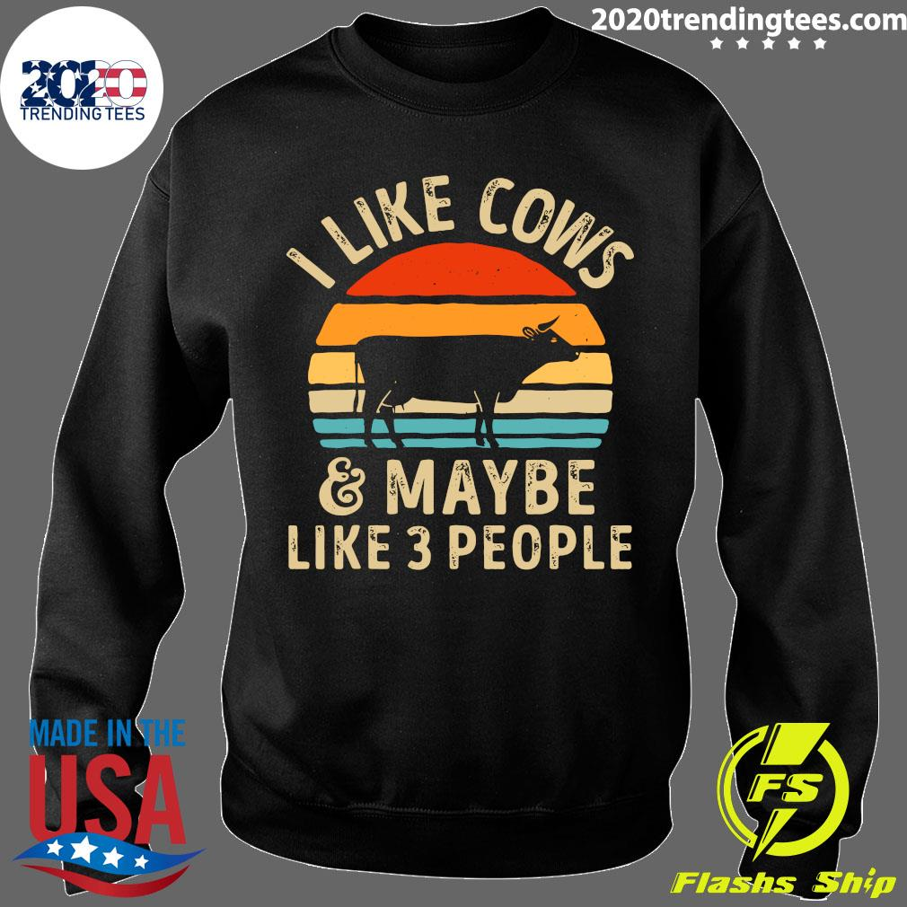 I Like Cows And Maybe Like 3 People Vintage Shirt Sweater