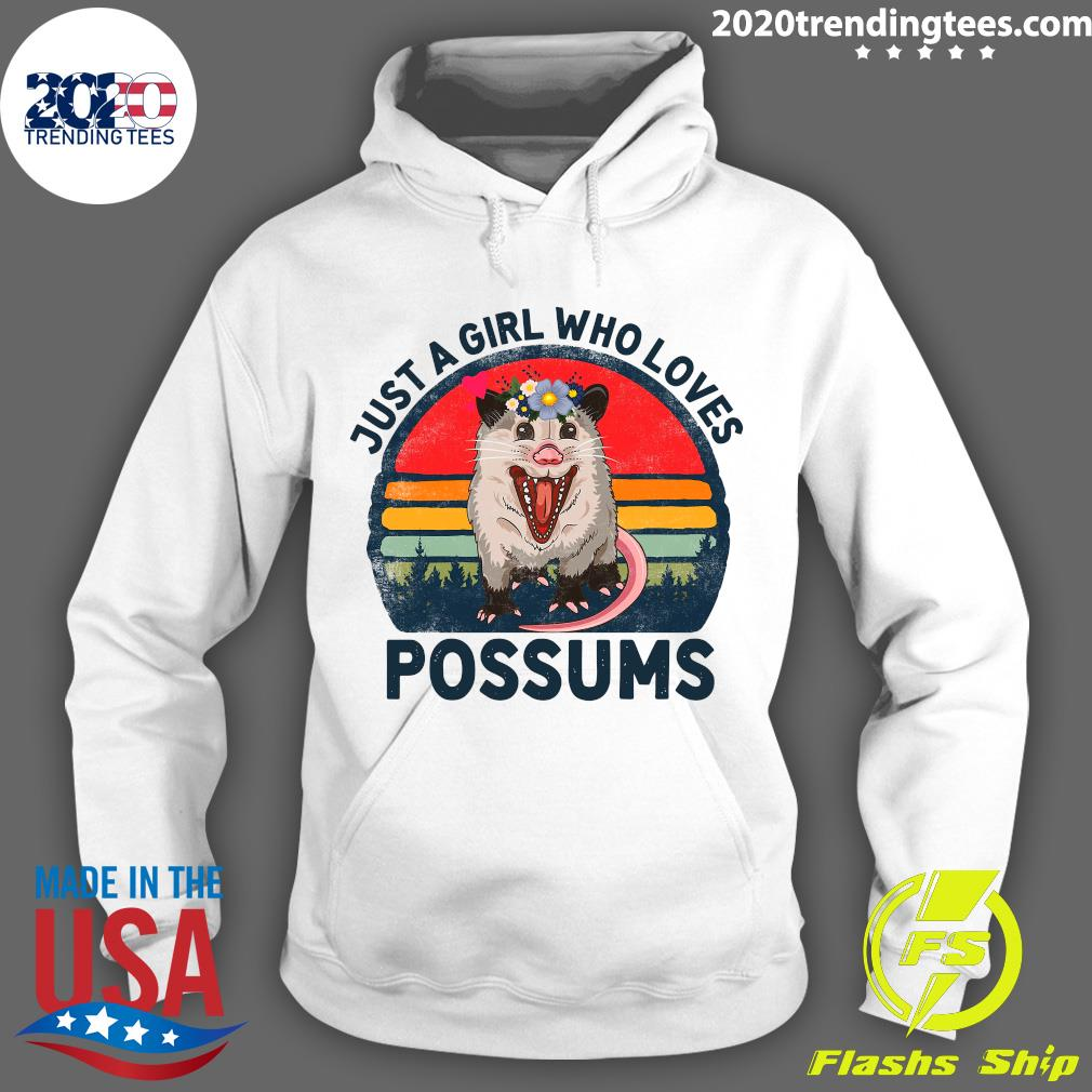 Just A Girl Who Loves Possums Vintage Shirt Hoodie