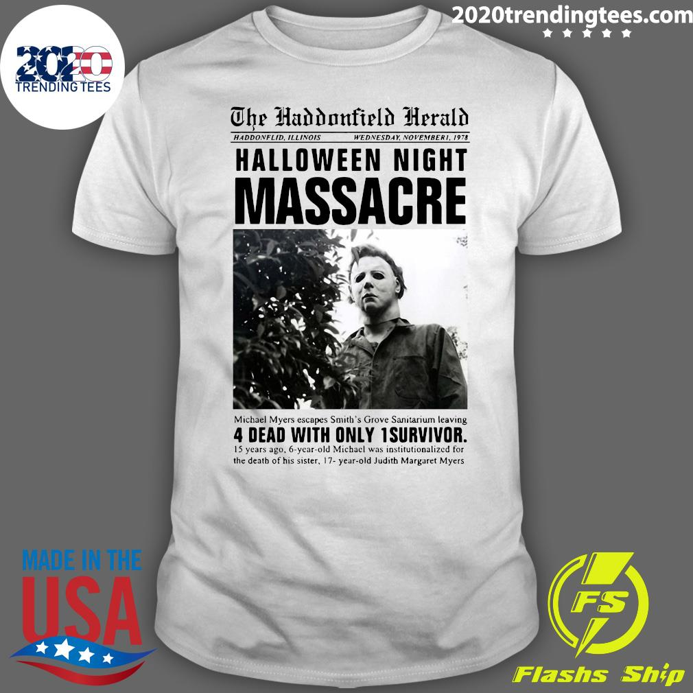 Michael Myers The Haddonfield Herald Halloween Night Shirt