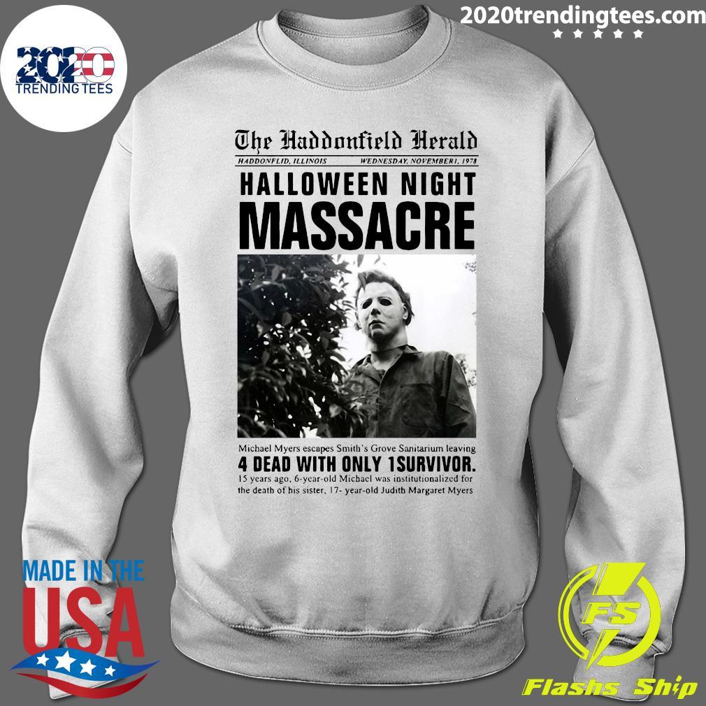 Michael Myers The Haddonfield Herald Halloween Night Shirt Sweater