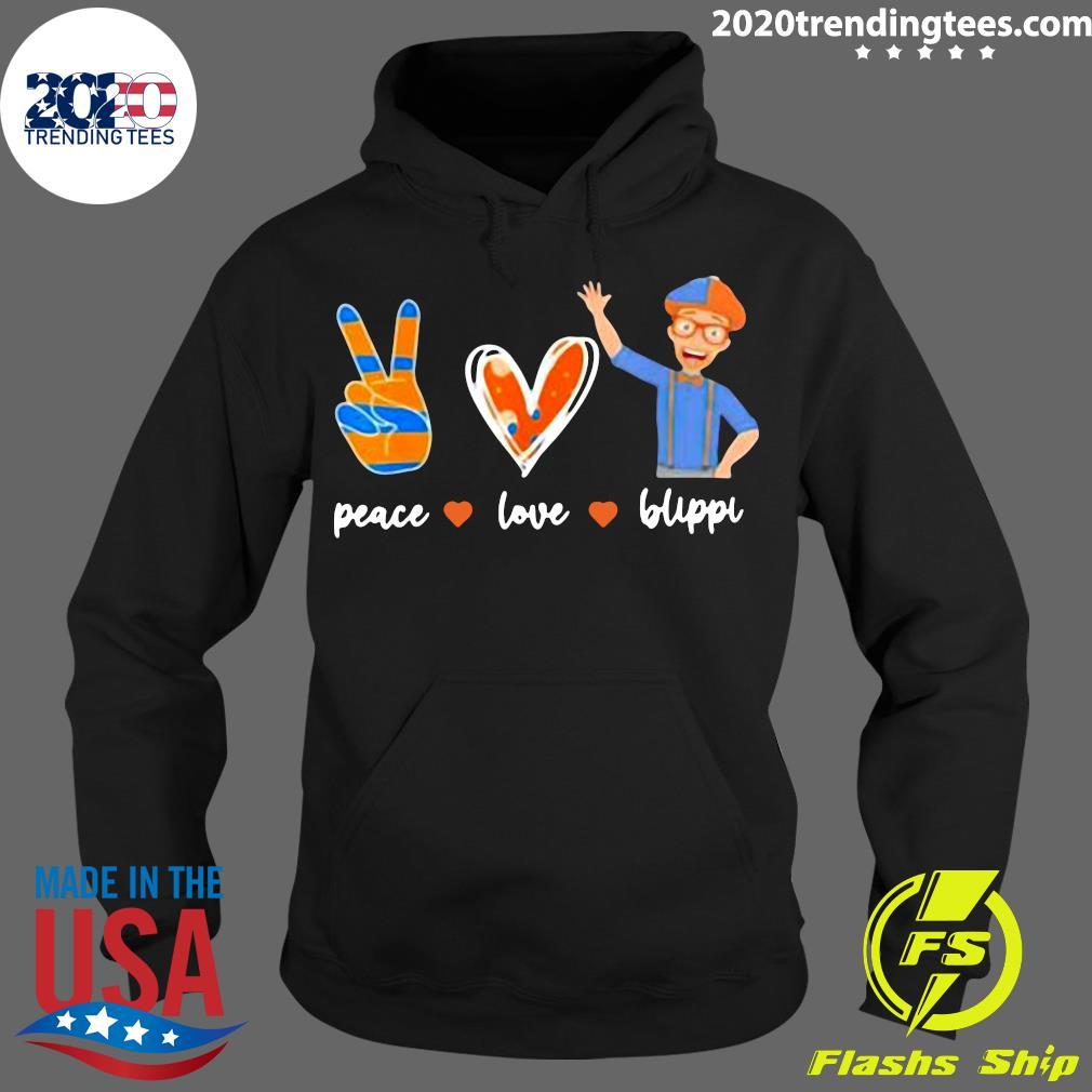 Peace Love Blippis Shirt Hoodie