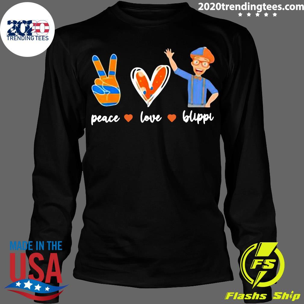 Peace Love Blippis Shirt Longsleeve