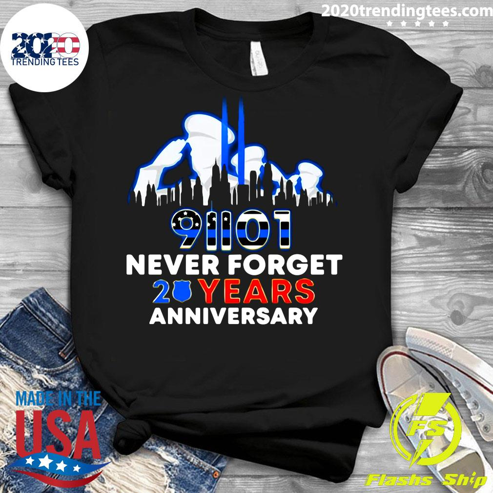 Police Never Forget 9-11 20th Anniversary Shirt Ladies tee