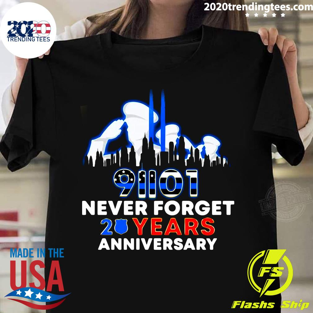 Police Never Forget 9-11 20th Anniversary Shirt