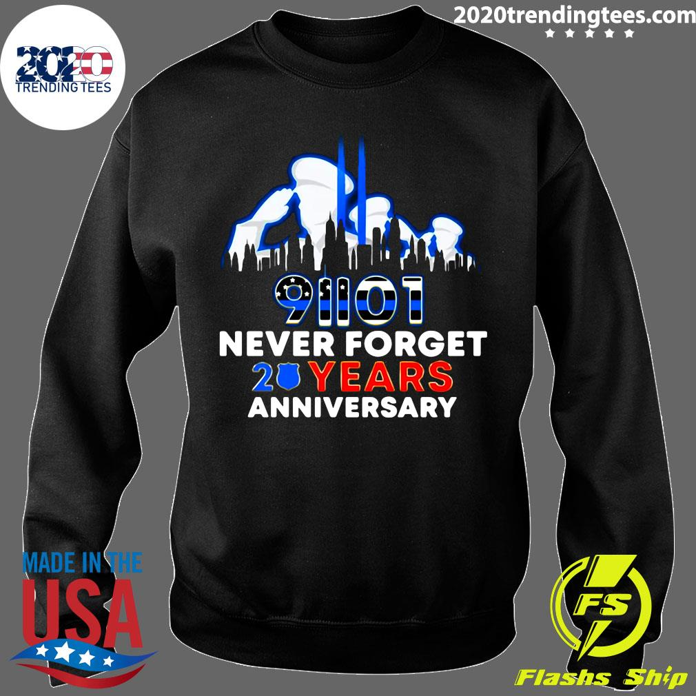 Police Never Forget 9-11 20th Anniversary Shirt Sweater
