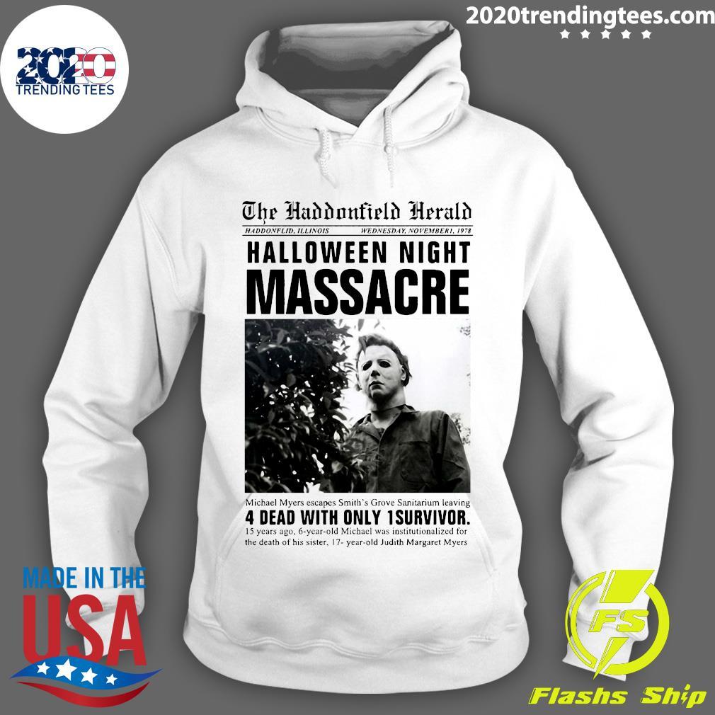 Michael Myers Headline Halloween Night Massacre Shirt Hoodie