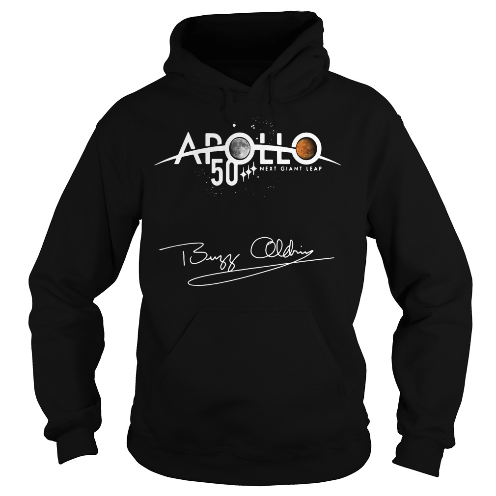 Apollo 50th Anniversary Logo Next Giant Leap First The Moon Hoodie