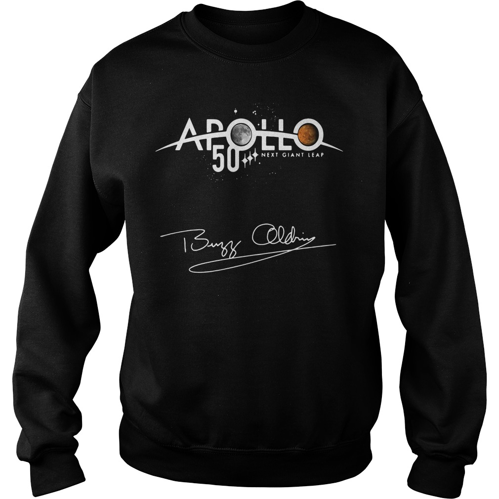 Apollo 50th Anniversary Logo Next Giant Leap First The Moon Sweater