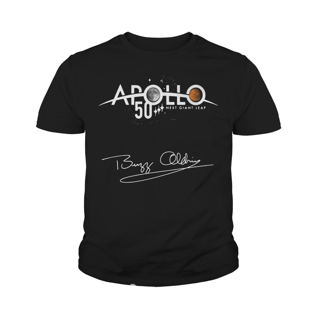 Apollo 50th Anniversary Logo Next Giant Leap First The Moon Youth Shirt