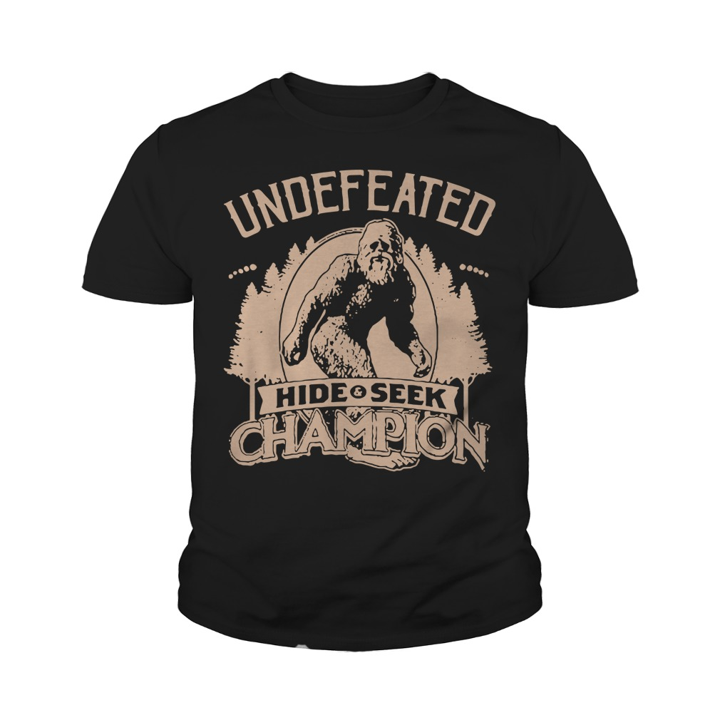 252c283de Bigfoot Sasquatch Undefeated Hide Seek Champion Shirt and Sweater