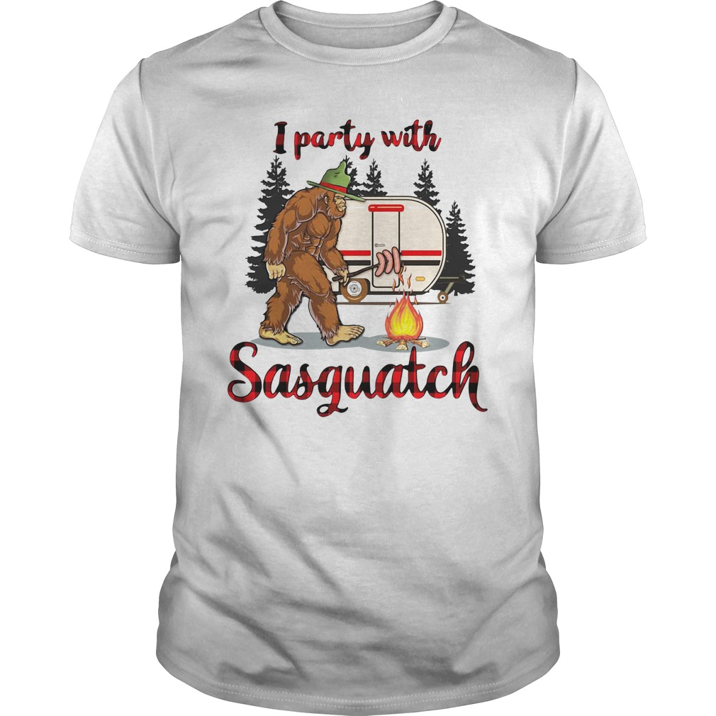 Camping I Party With Sasquatch Shirt