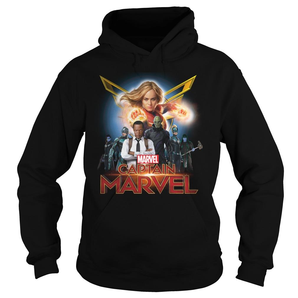 Captain Marvel Superhero Group Shot Hoodie