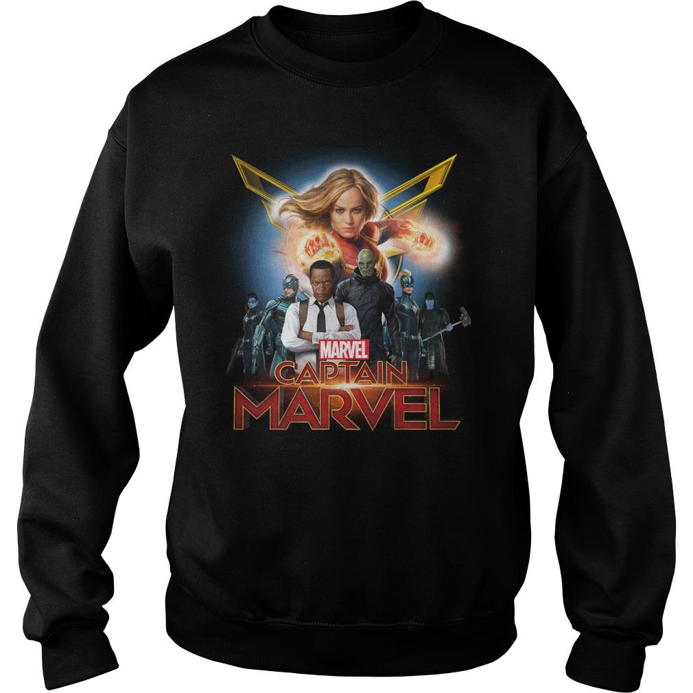Captain Marvel Superhero Group Shot Sweater
