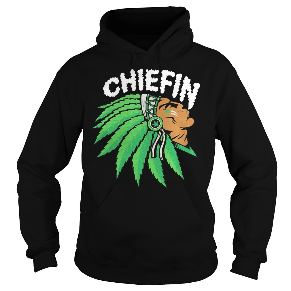 Chiefin Weed Smoking Indian Hoodie