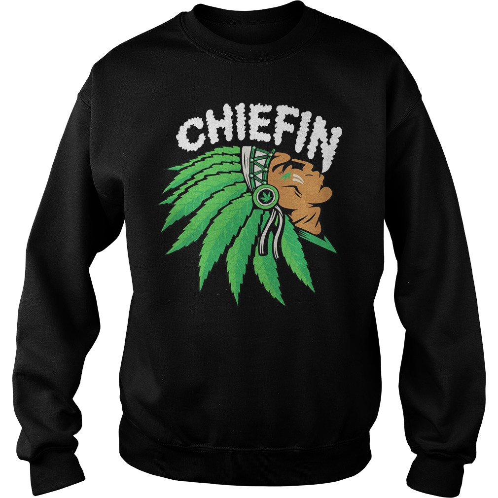Chiefin Weed Smoking Indian Sweater