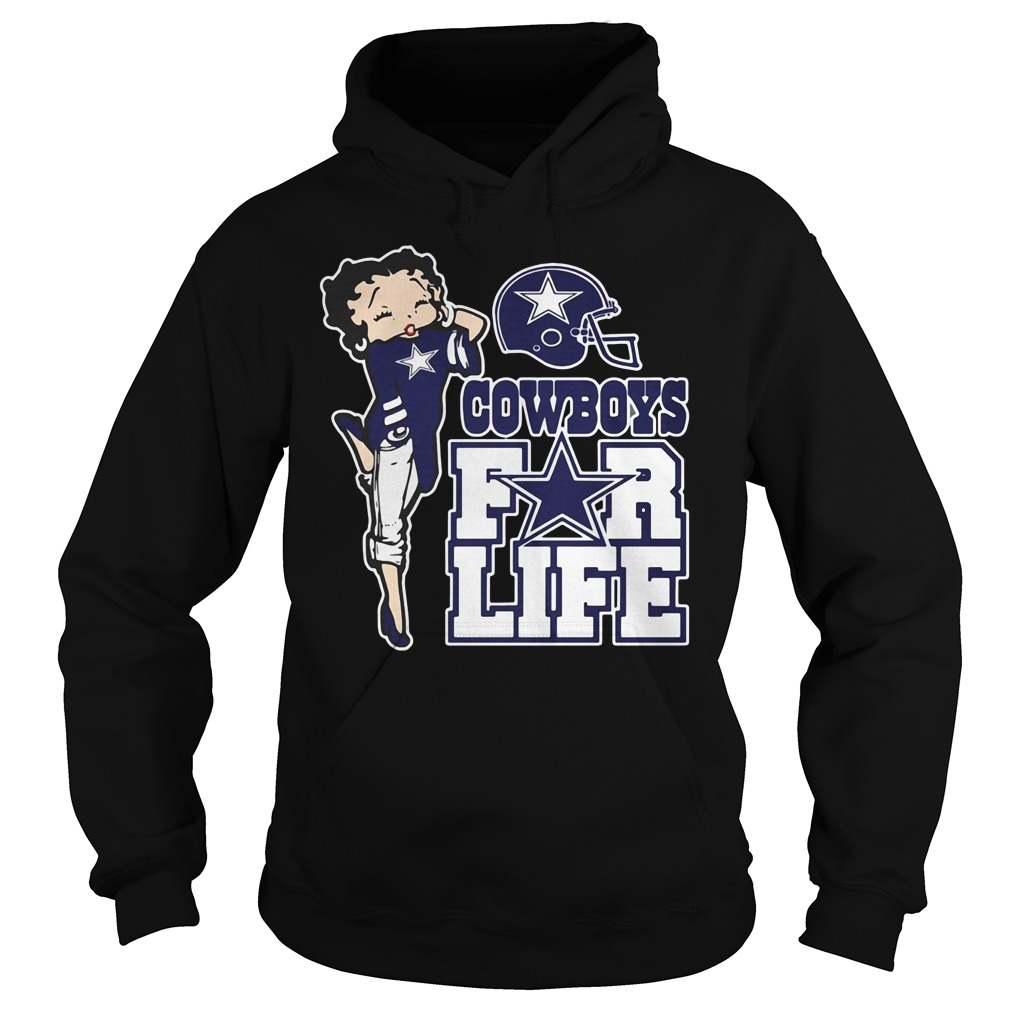 Cowboys For Life Betty Boop Hoodie