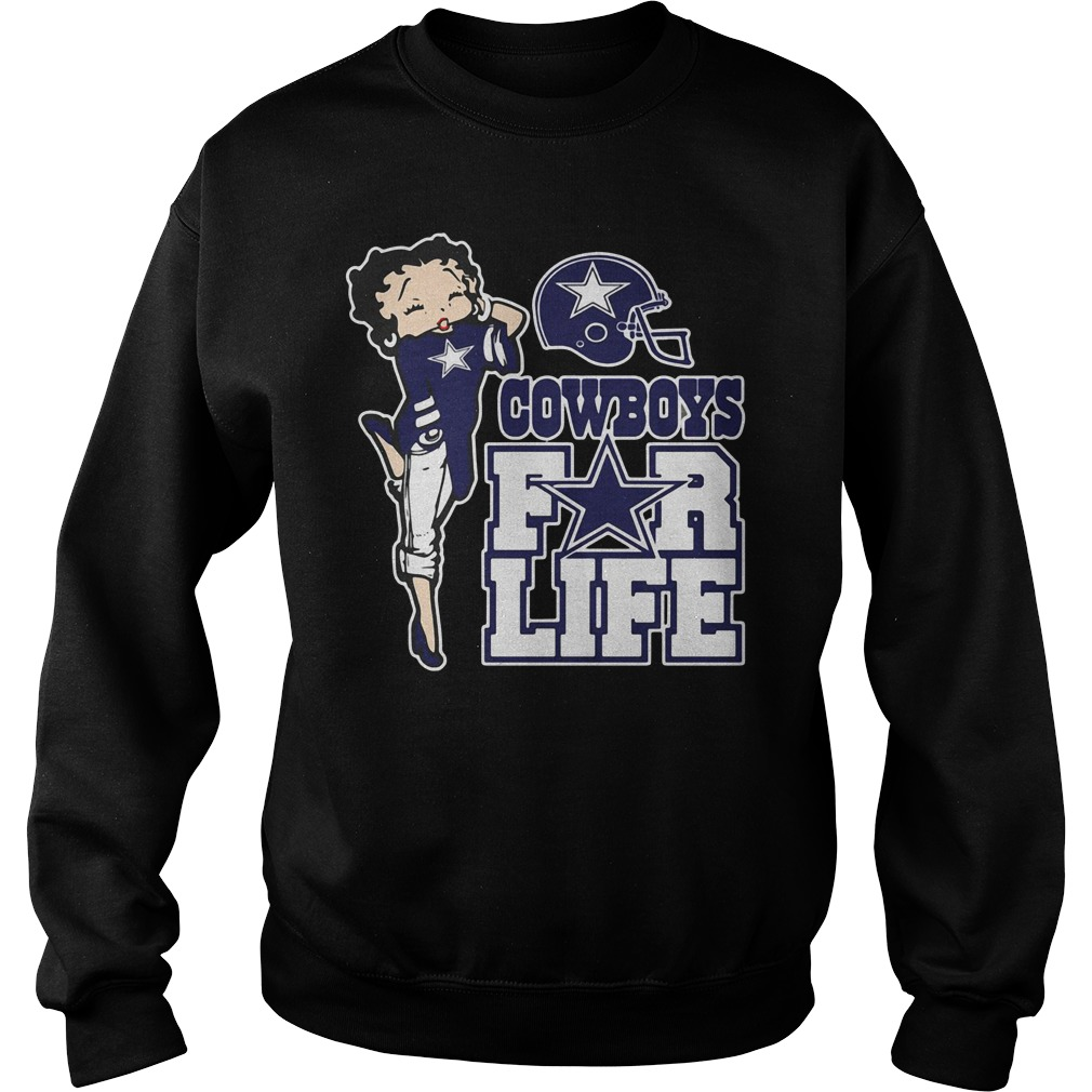 Cowboys For Life Betty Boop Sweatshirt
