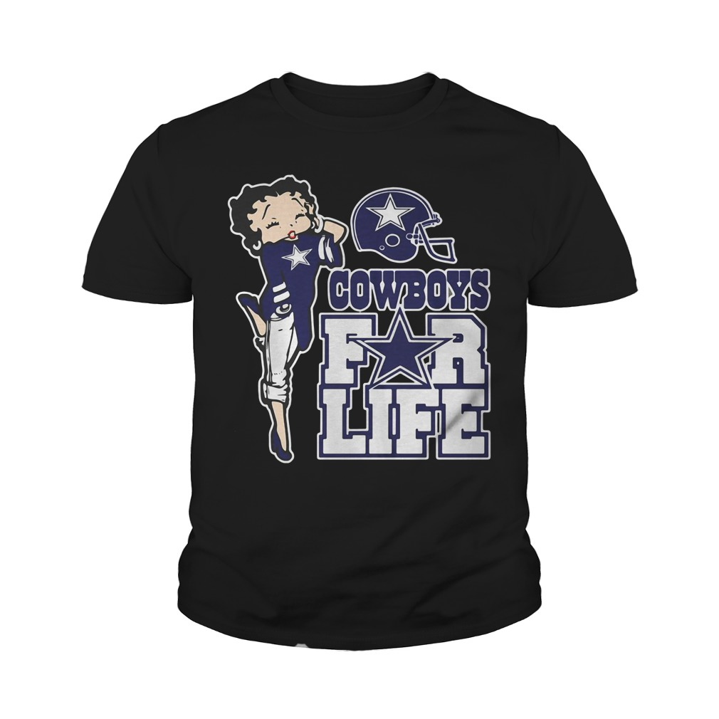 Cowboys For Life Betty Boop Youth Shirt