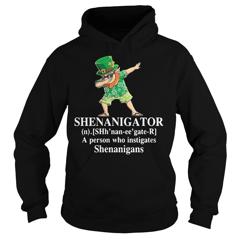 Dabbing Leprechaun Hawaiian Shenanigator A Person Who Instigates Shenanigans Hoodie