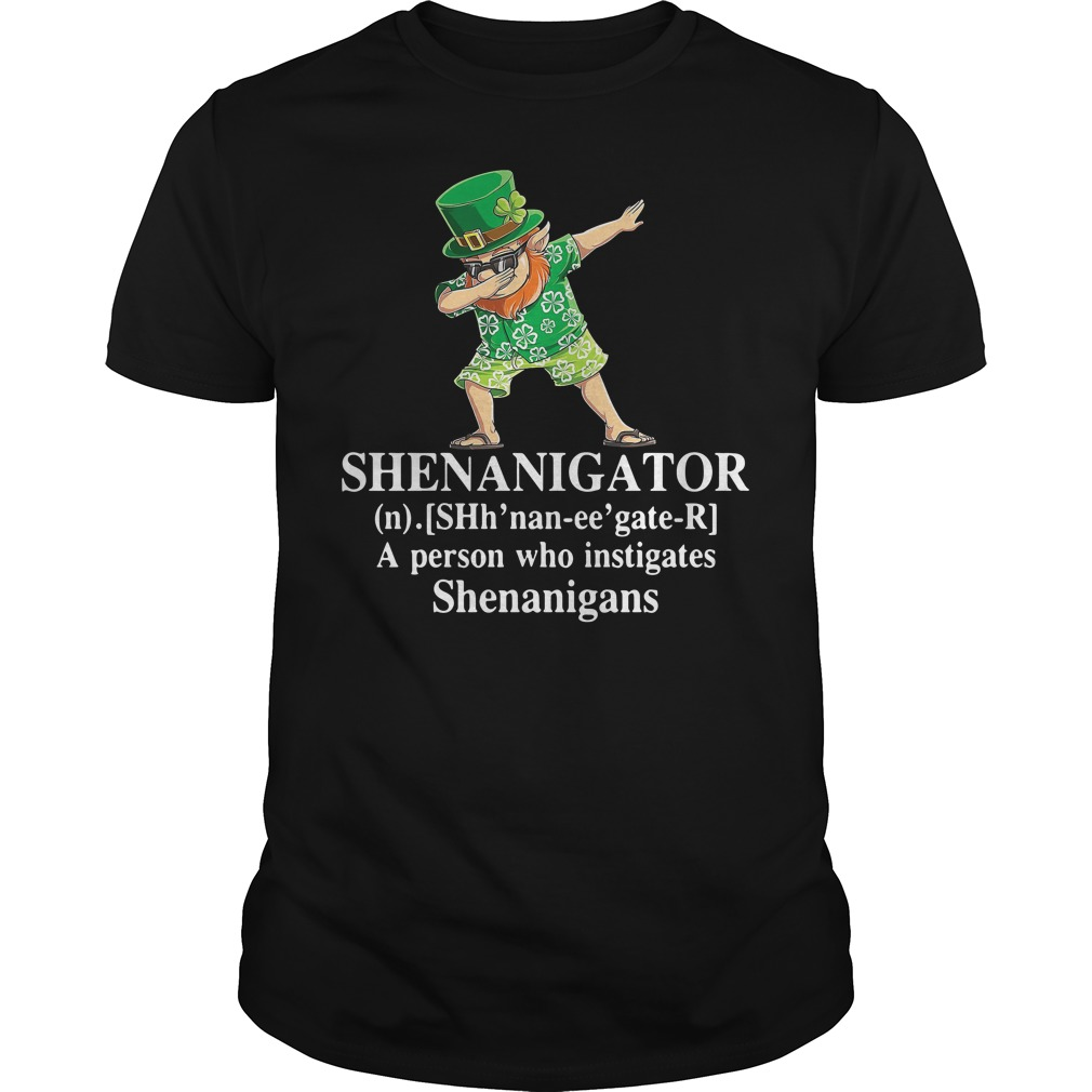 Dabbing Leprechaun Hawaiian Shenanigator A Person Who Instigates Shenanigans Shirt