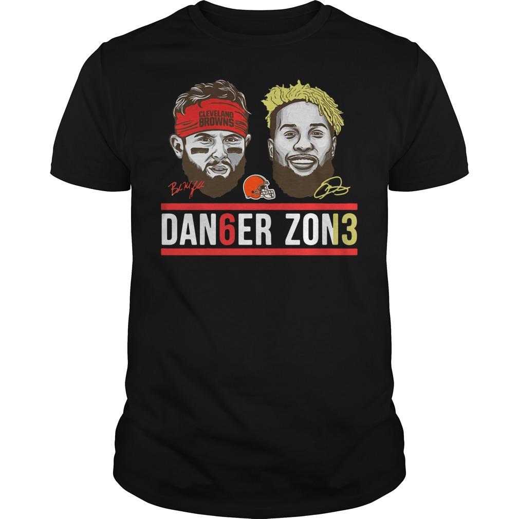 02c3834f133 Danger Zone Odell Beckham Baker Mayfield Cleveland Browns Football Shirt