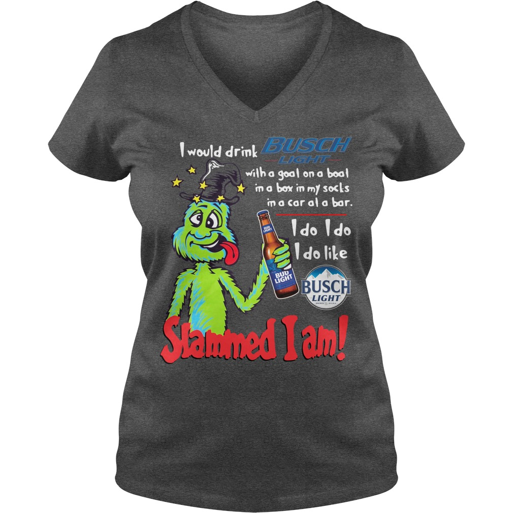 Dr Seuss Slammed I Am I Would Drink Busch Light With A Goat On A Boat Ladies v neck