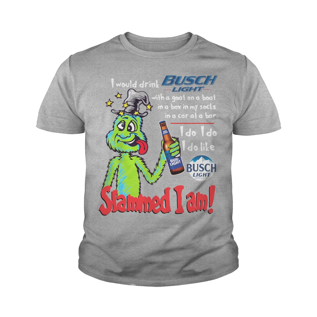 Dr Seuss Slammed I Am I Would Drink Busch Light With A Goat On A Boat Youth Shirt