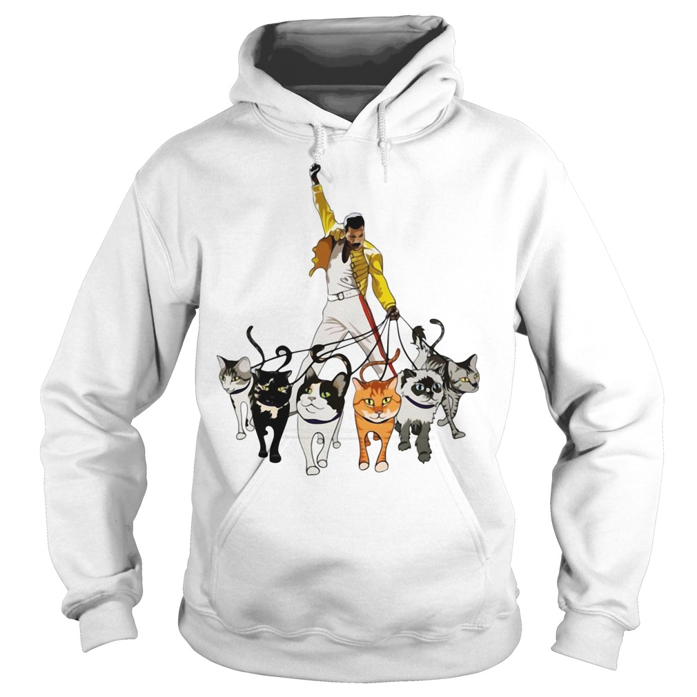 Freddie Mercury And Cats Hoodie