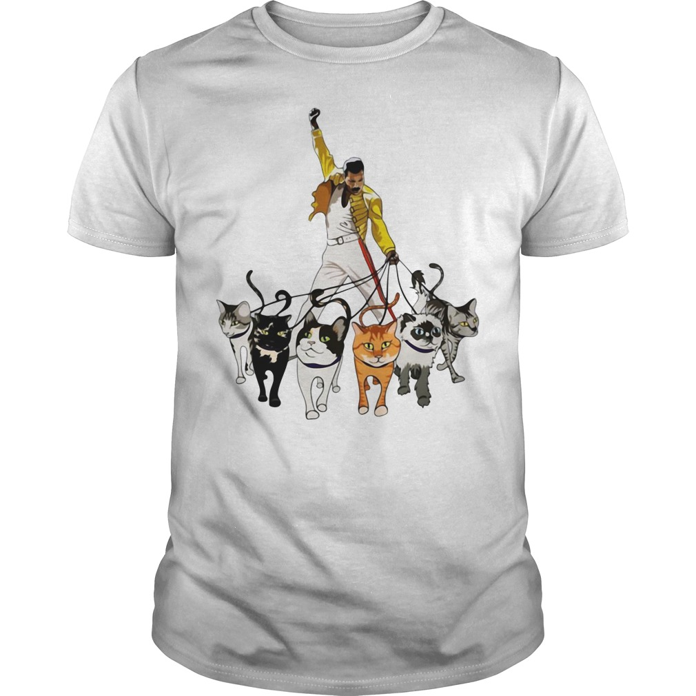 bf19c4dc5d1ad Freddie Mercury And Cats Shirt