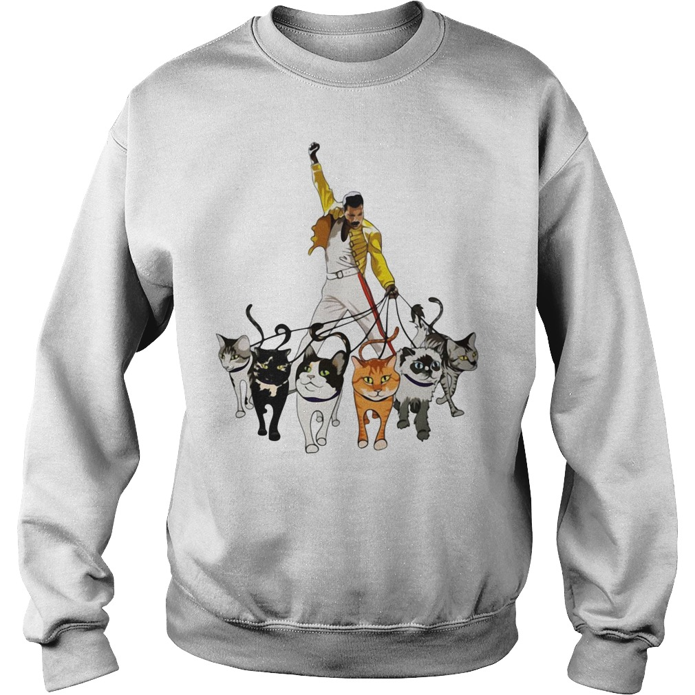 Freddie Mercury And Cats Sweatshirt