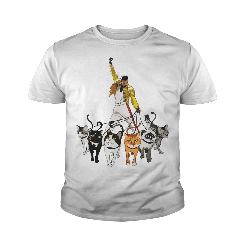 Freddie Mercury And Cats Youth Shirt