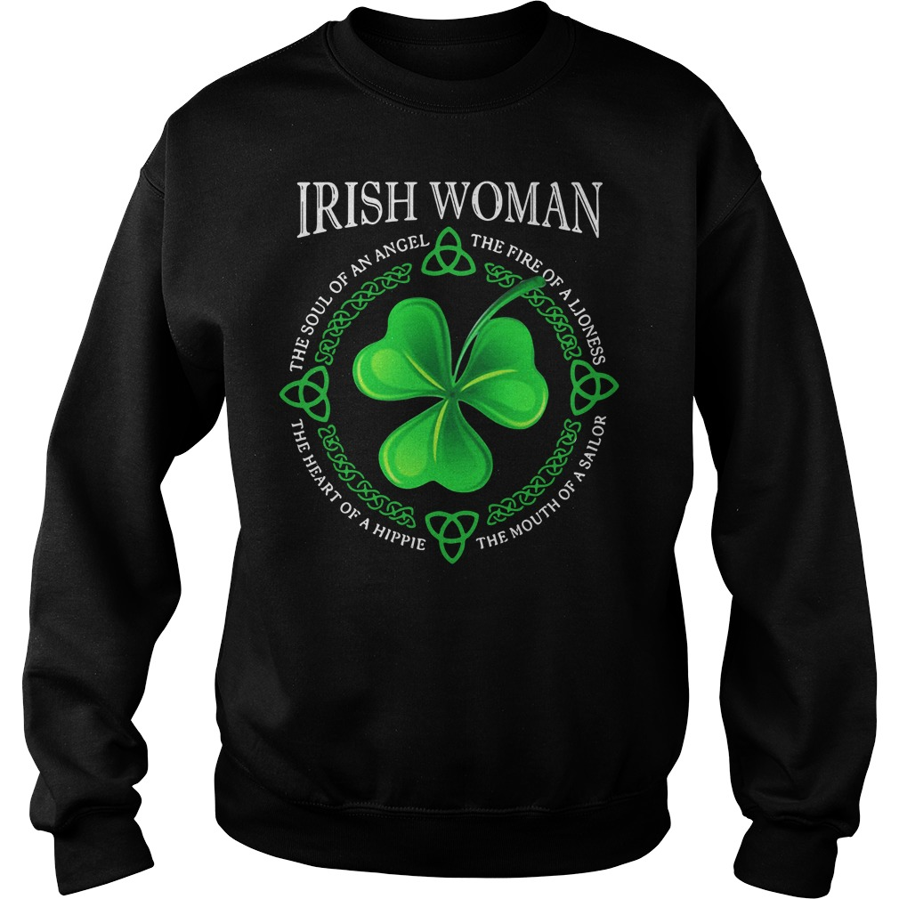 Irish Woman The Soul Of An Angel The Fire Of A Lioness Sweater