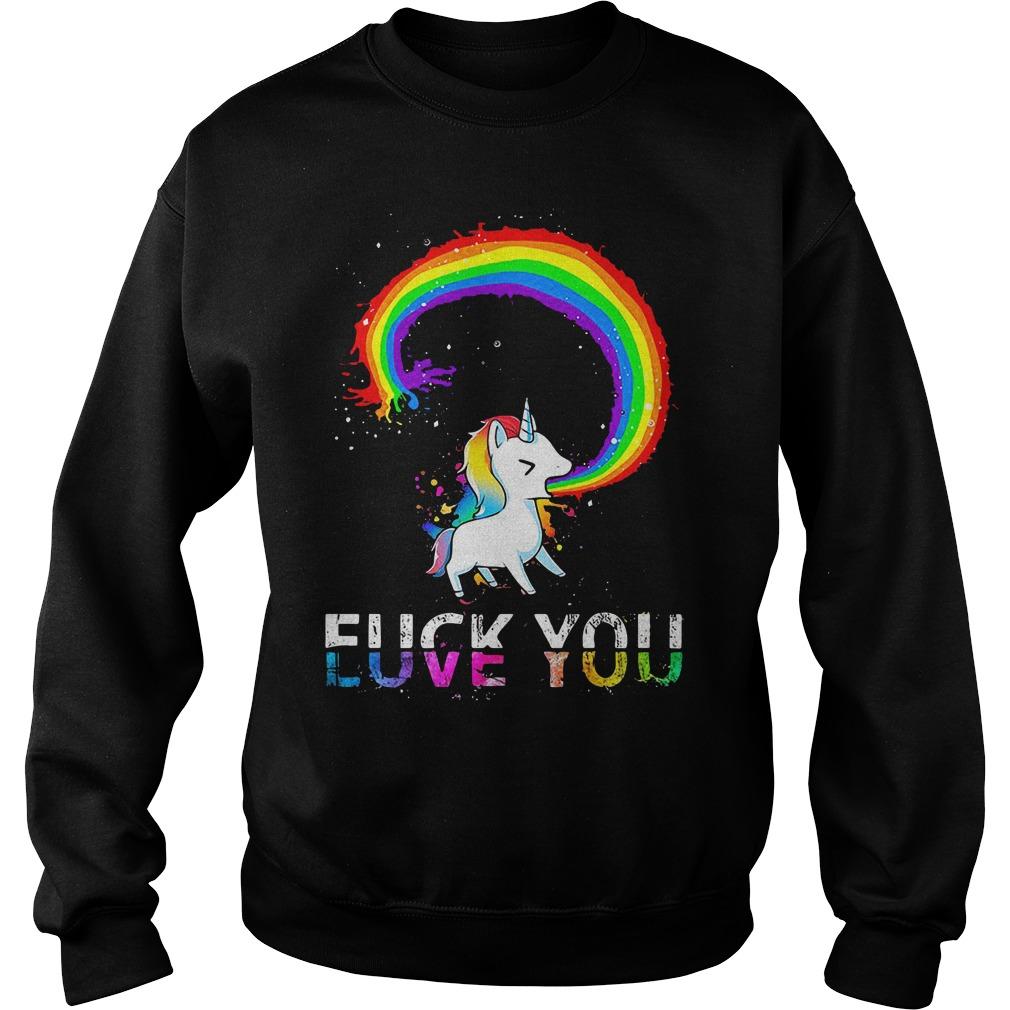 LGBT Unicorn Fuck You Love You Sweater