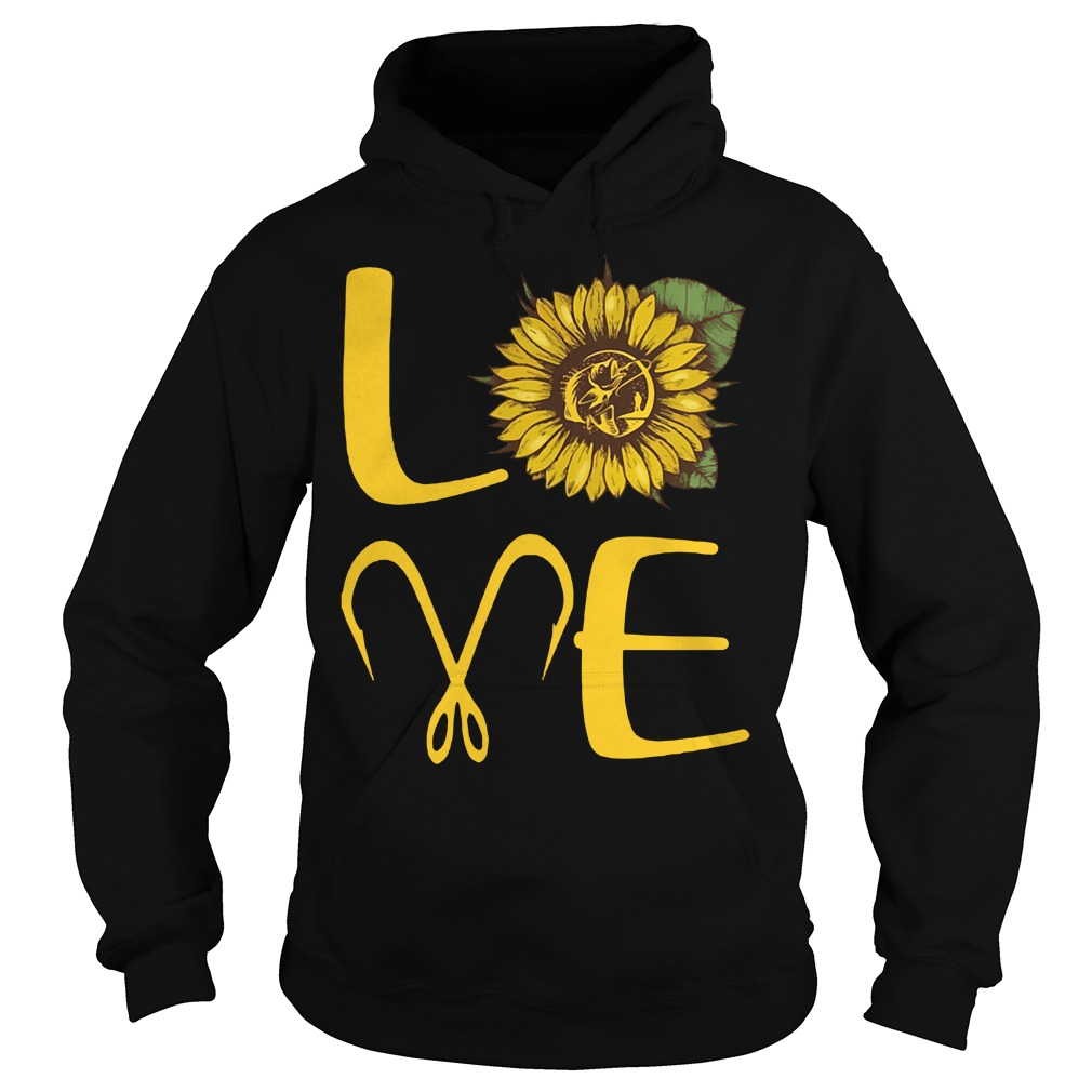 Official Sunflower Love Fishing Hoodie