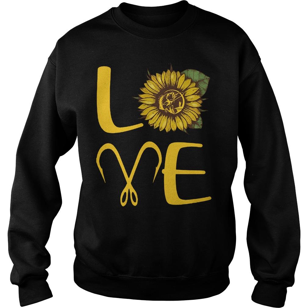 Official Sunflower Love Fishing Sweatshirt