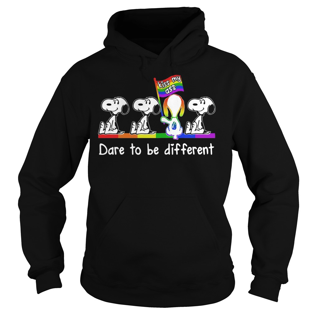 Snoopy kiss my ass dare to be different Hoodie