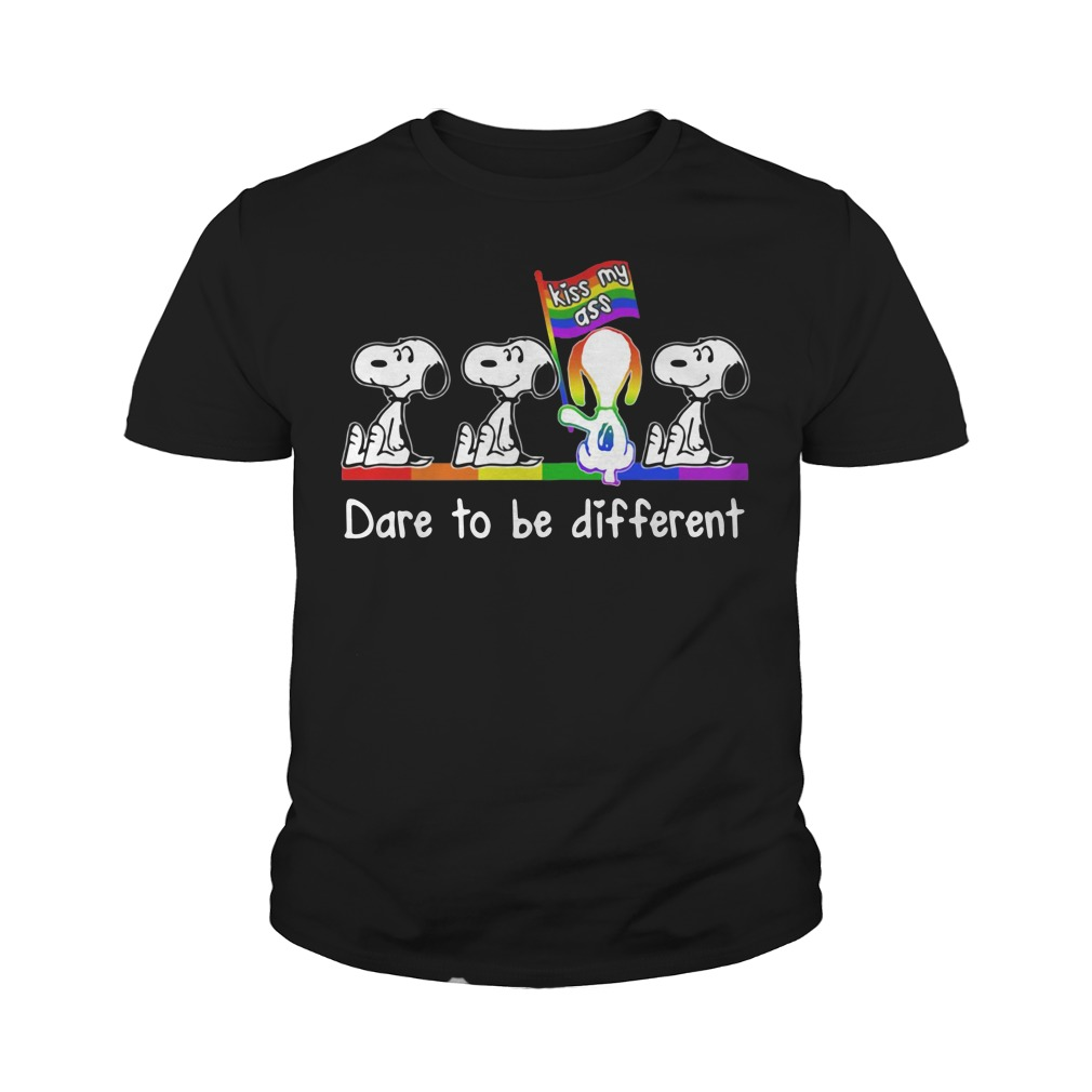 Snoopy kiss my ass dare to be different Youth Shirt