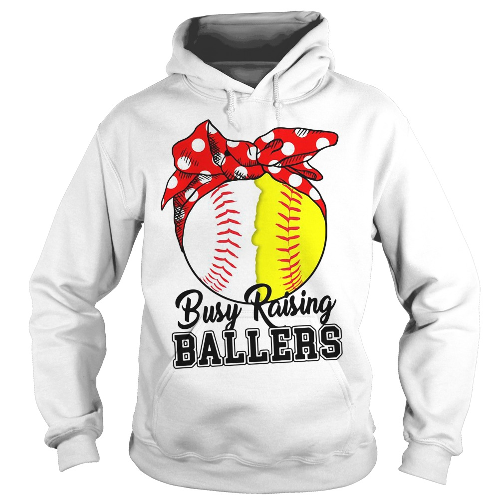 Softball Busy Raising Ballers Hoodie