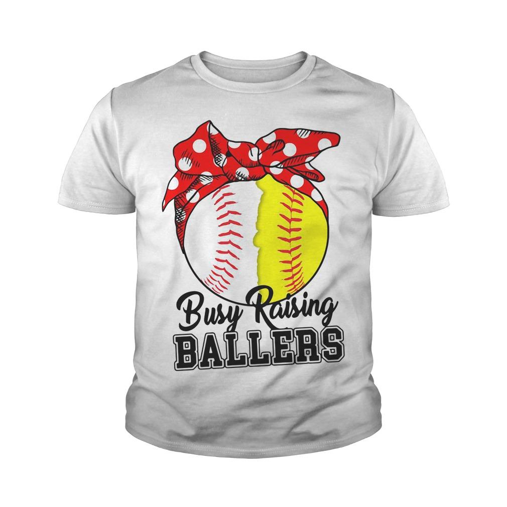 Softball Busy Raising Ballers Youth Shirt