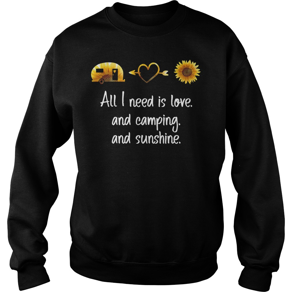 Sunflower All I Need Is Love And Camping And Sunshine Sweater