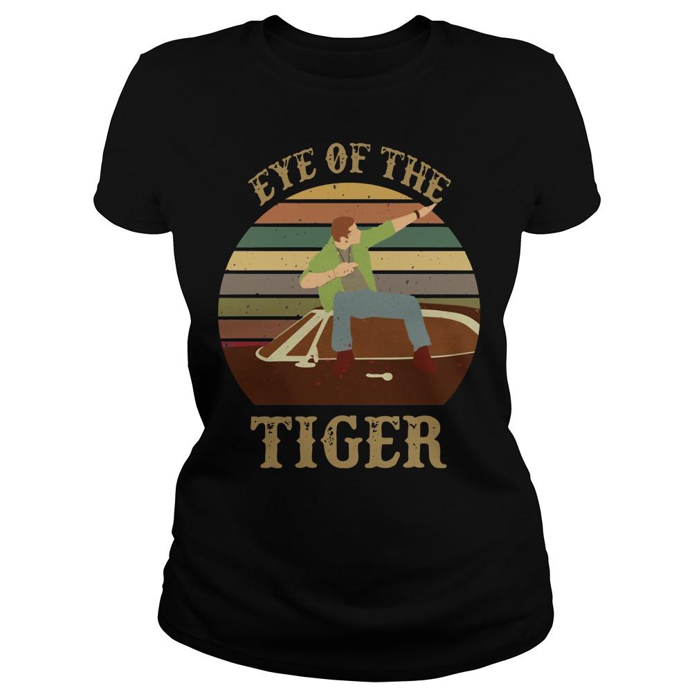Supernatural dean eye of the tiger sunset Ladies Shirt