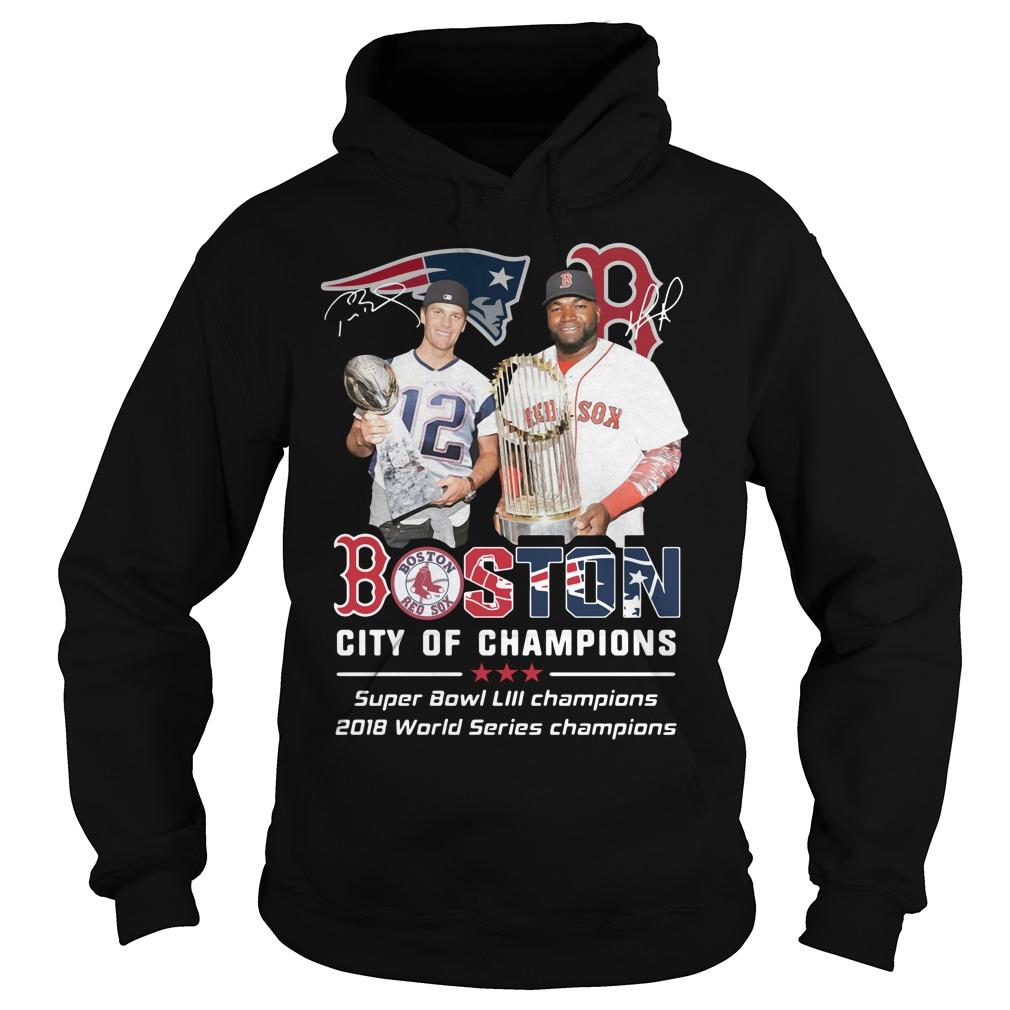 Tom Brady and David Ortiz Boston city of champions Hoodie