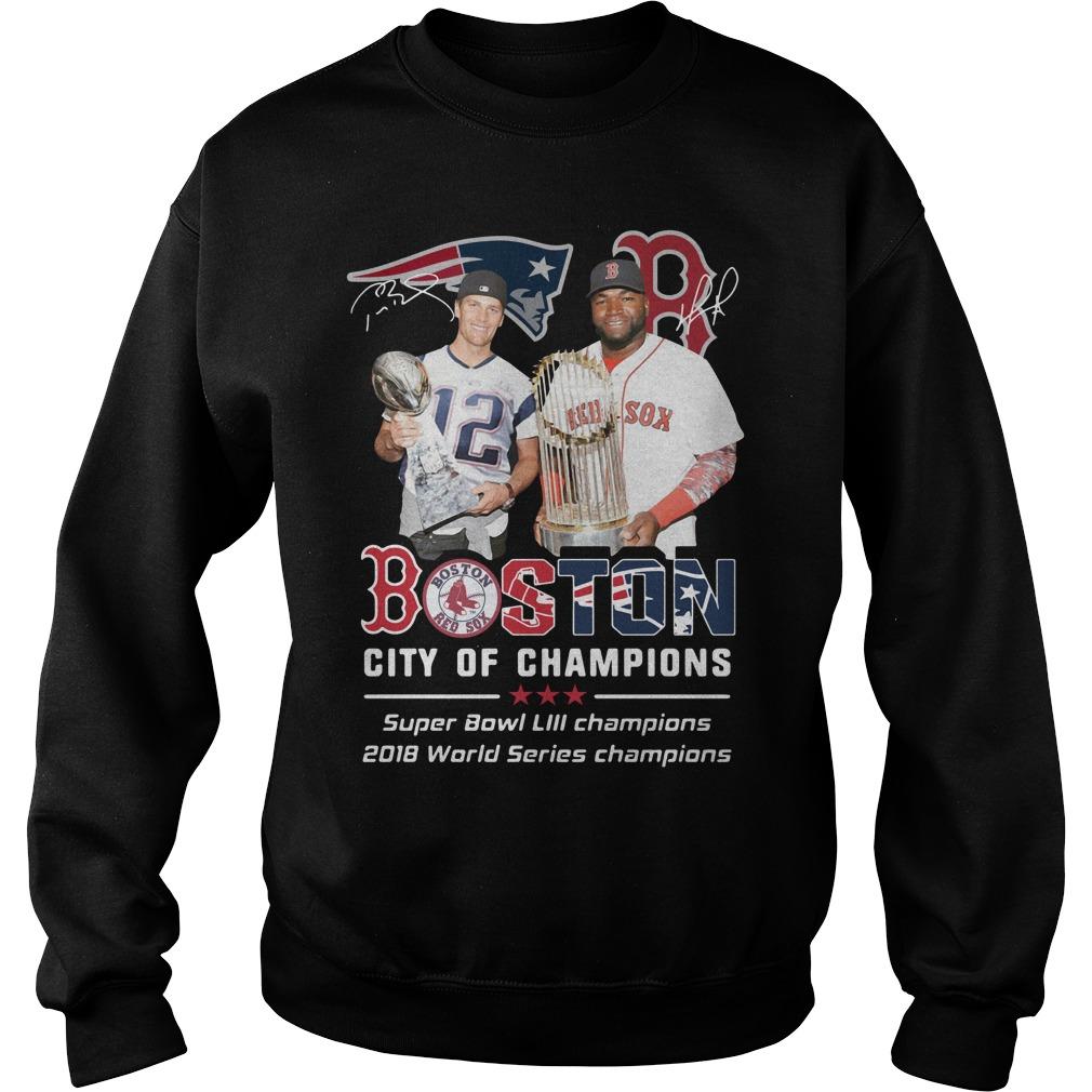 Tom Brady and David Ortiz Boston city of champions Sweater